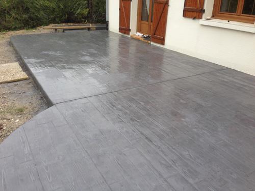 Style ext rieur reims b ton empreinte for Exterieur beton