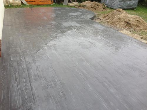 Style ext rieur reims b ton empreinte - Terrasse beton empreinte bois ...
